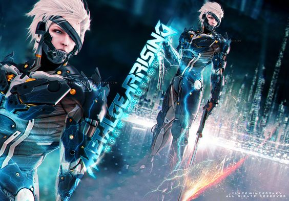 Metal Gear Rising: Resurrection, LaceWingedSaby サビのレースの翼 on ArtStation at https://www.artstation.com/artwork/O3K8K #metalgearrising #konami #kojima #raiden #lightingbolt #artworks #fanart #cyborg #lacewingesaby