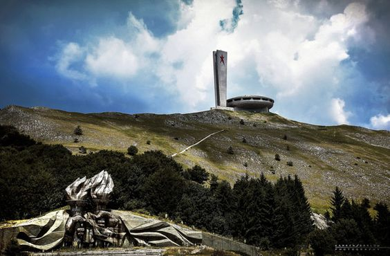 Located at the historical peak of Buzludzha in the Central Stara Planina, Bulgaria, stands a magnificent piece of architecture. The Buzludzha Monument was built by the Bulgarian communist regime between 1979 and 1981 to commemorate the events in 1891 when the socialists led by Dimitar Blagoev assembled secretly in the area to form an organized socialist movement.
