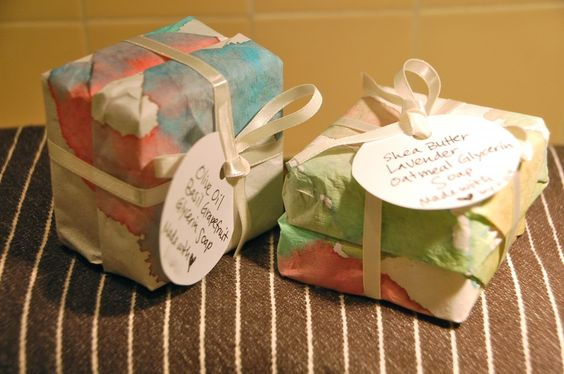 Homemade soap, perfect for Mother's Day!