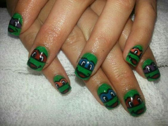 Ninja Turtles Nails Megan Lovins Nail Art Pinterest