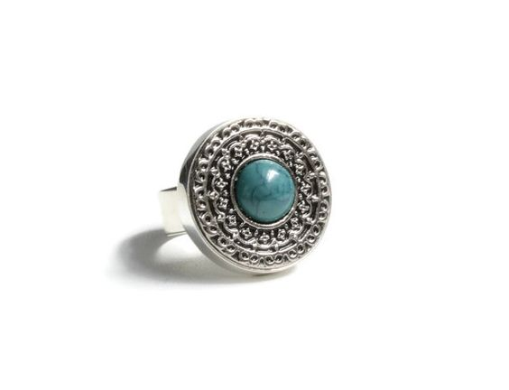 ON SALE Silver Turquoise Ring Silver by MarisaDianeDesigns on Etsy
