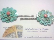 Genuine Hand Made Heishe Beads & Coral Hair Barrettes http://www.ebay.com/itm/181205299077?ssPageName=STRK:MESELX:IT&_trksid=p3984.m1555.l2649