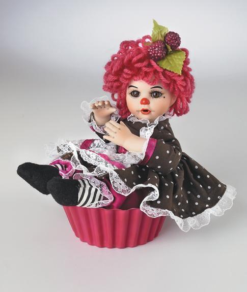 Chocolate Raspberry Rag A Muffin Doll By Artist Marie