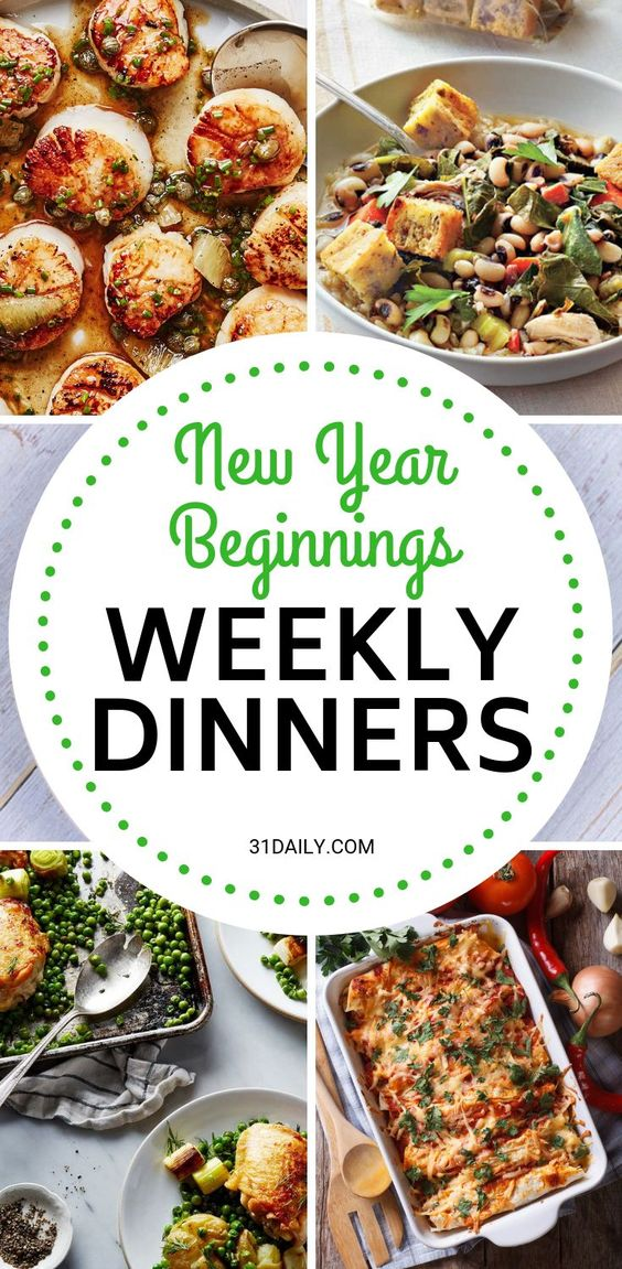 Meal Plan // Week 1: New Year Beginnings - 31 Daily
