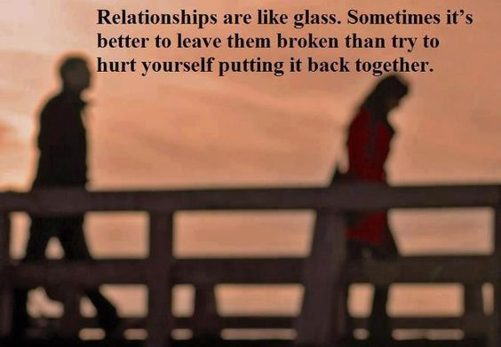 relationship are like a glass