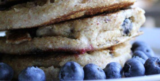 Spelt-Blueberry Pancakes