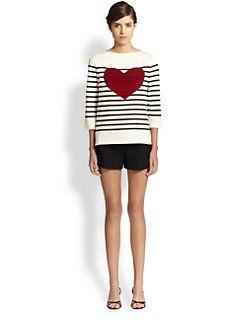 Marc Jacobs - Breton Stripe Heart Top