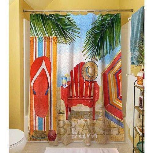 Spring Shower Curtain Fabric Foral Bathroom Decor Home Bath Blue ...