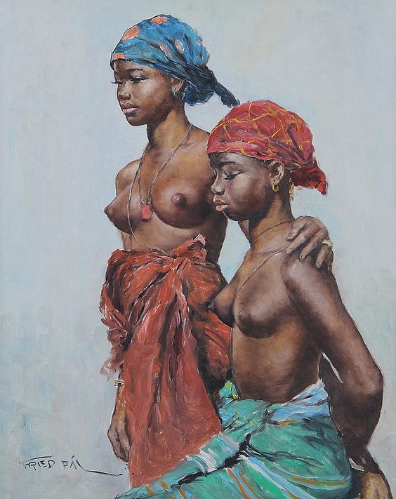 Pál Fried - Two African women: