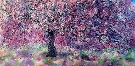 The Heidi Tree (120 x 60 cm) Mixed Media