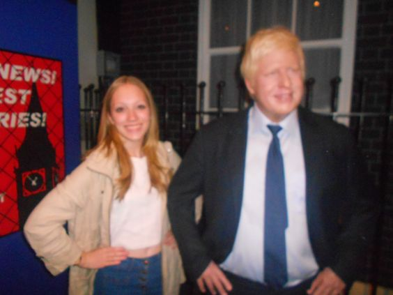 Again at Madame Toussauds... and I met Boris Johnson!