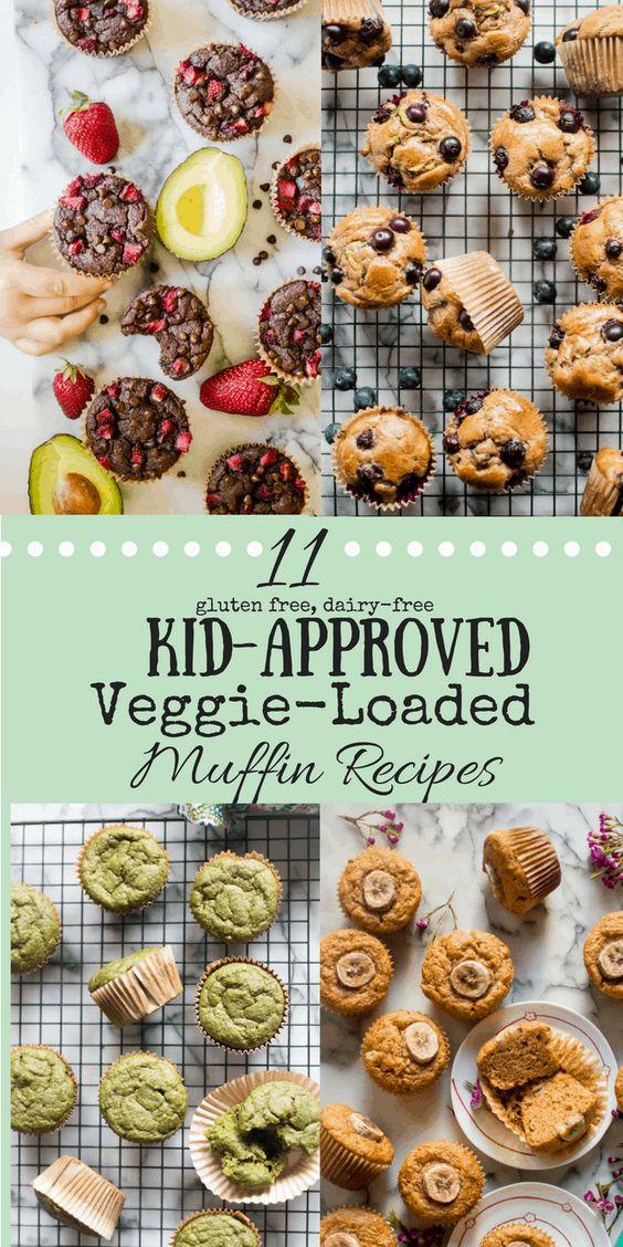 Kid-friendly vegetable muffins