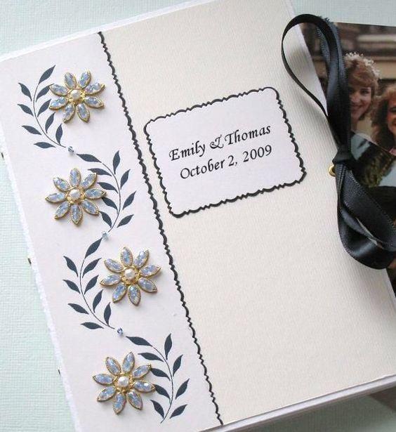 Photo Album Keepsake Personalized Customized Wedding by Daisyblu, $28.00