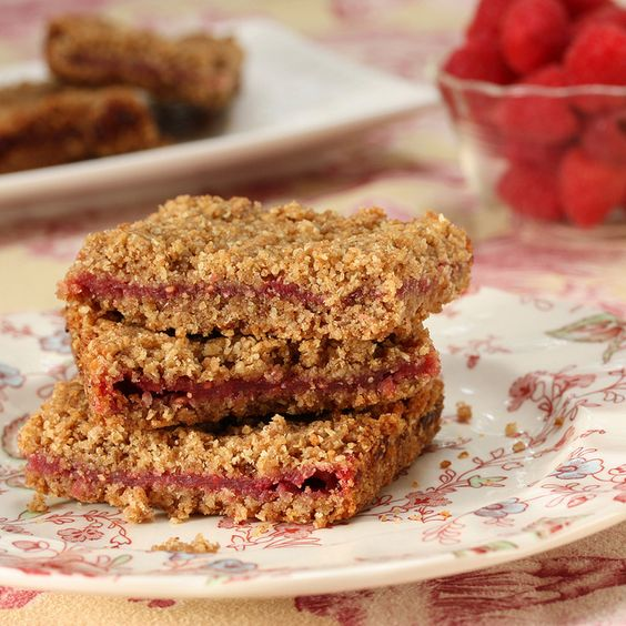 Whole Wheat #healthified Raspberry Breakfast Bars