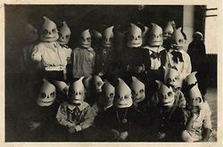 Curious History, Creepy vintage Halloween photo of students in...
