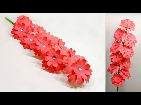 How To Make Very Beautiful Easy Paper Flower Stick Stick Flower