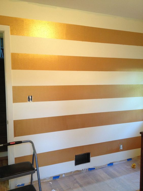 stripes stripe walls and gold on pinterest