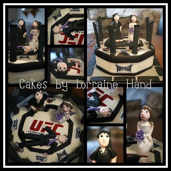 UFC Grooms Cake #cake #fondant #UFC