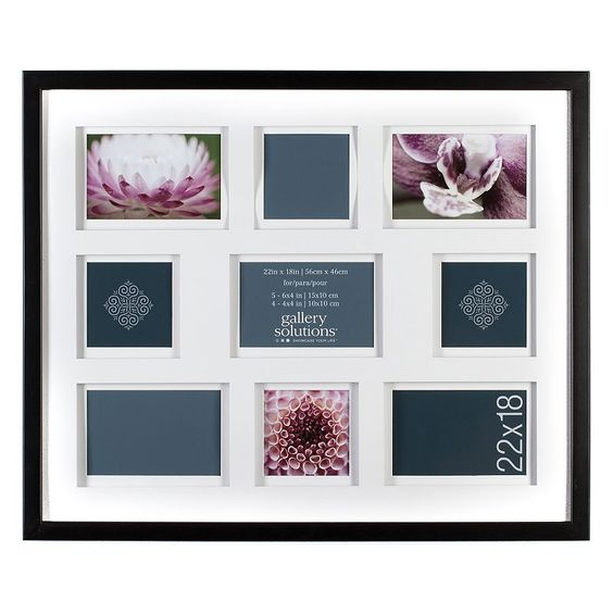 Gallery Solutions 9-Opening Collage Frame, Black