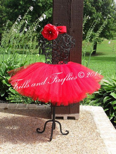 Beautiful Red Tutu ...Comes in Baby to Adult Sizes..Great for any Occasion