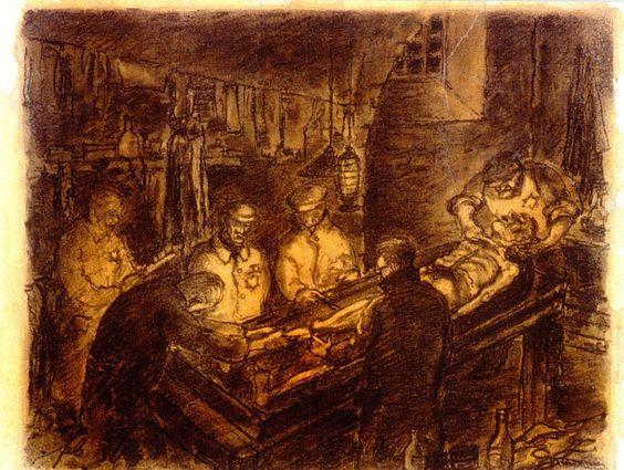 La Autopsia en el Arte: FERDINAND BLOCH (1898 -1944) Autopsia nocturna