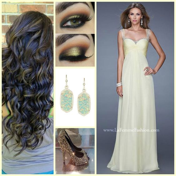 Prom dress inspiration hair