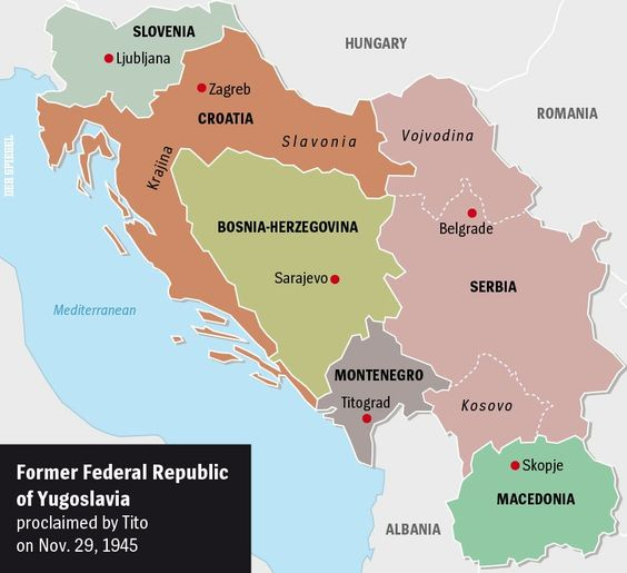 Former Yugoslavia  was made up of six republics: Serbia, Croatia,...