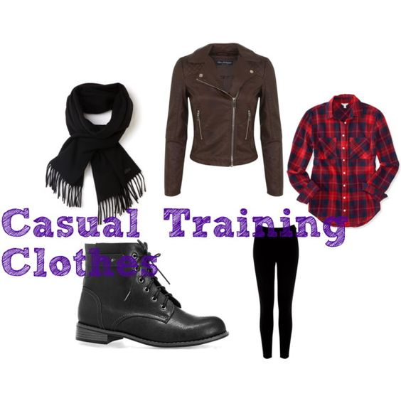 Casual Training Clothes by fairytail0 on Polyvore featuring art