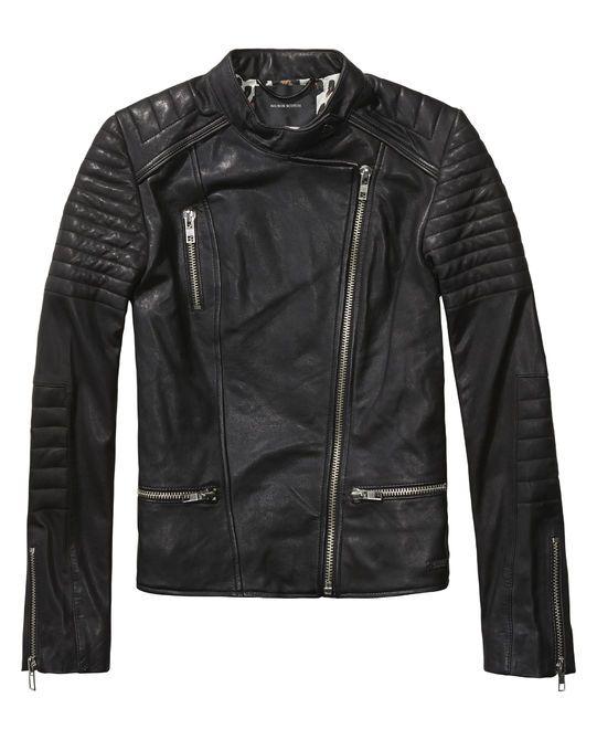 biker jacket leather jackets women 39 s clothing at scotch soda. Black Bedroom Furniture Sets. Home Design Ideas