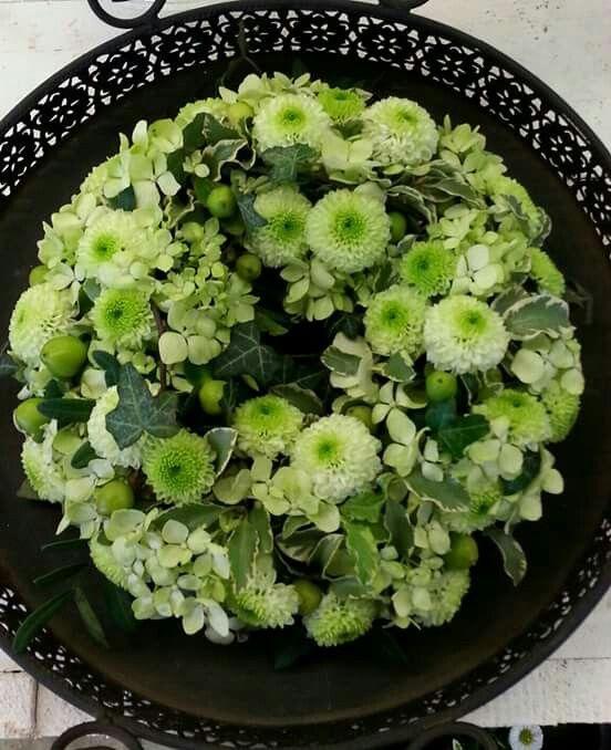 Tischschmuck grün