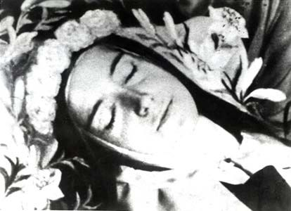 saint therese of the little flower.  i made this one into a candle...