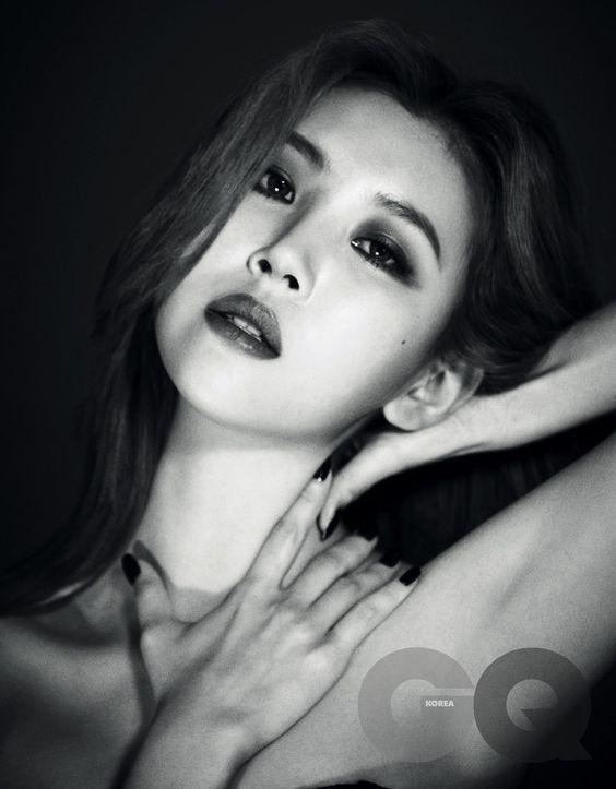 Sunmi de Wonder Girls luciendo sexy y misteriosa para la revista GQ