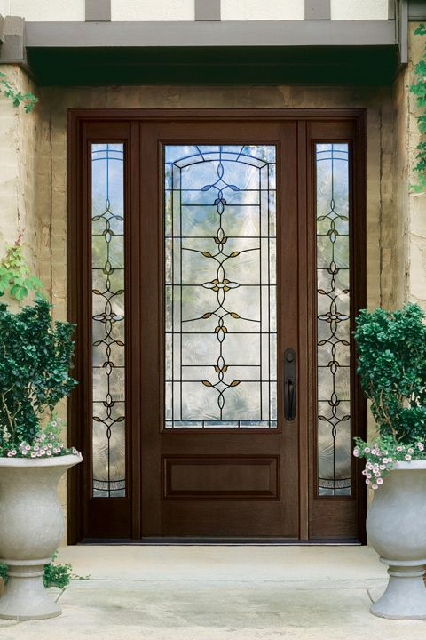Thermatru Classic Craft Fiberglass Mahogany Entry Door