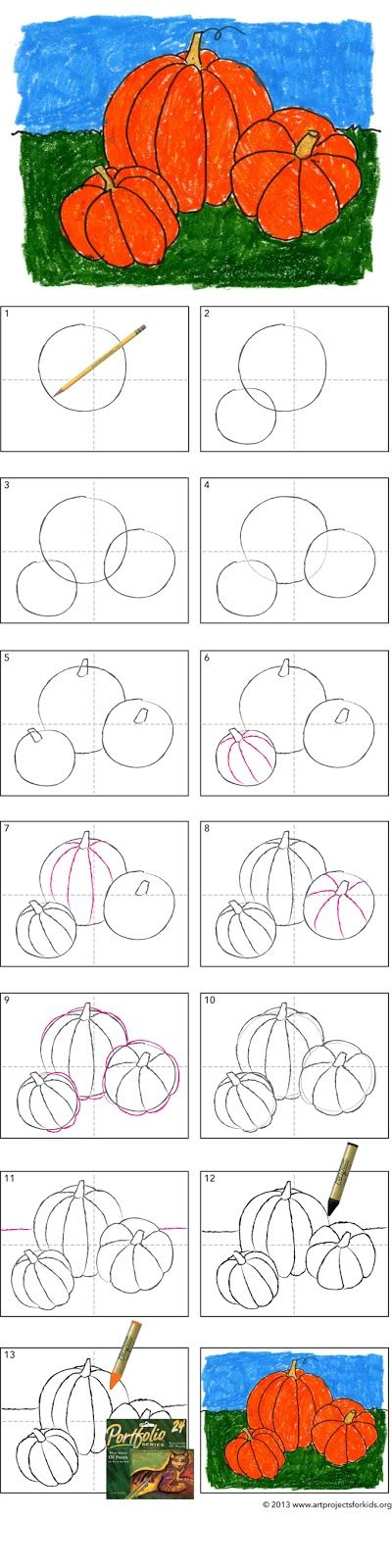 How to Draw a Pumpkin Tutorial
