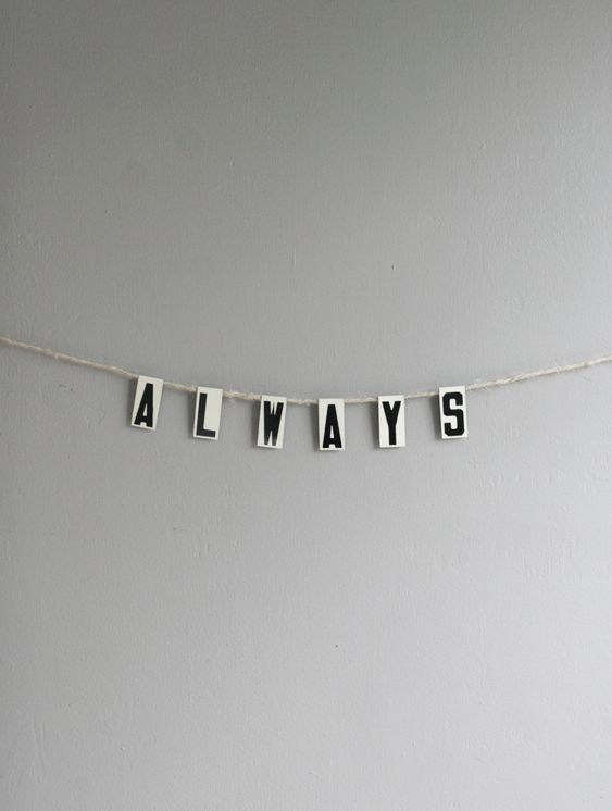 vintage letters, perfect for stringing as a bunting display