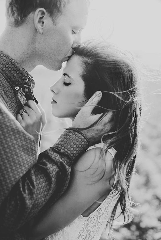 www.AmandaBasteen.com Wedding Photographer  S - Forehead kiss. Sweet/Tender. Show's a softer side.: