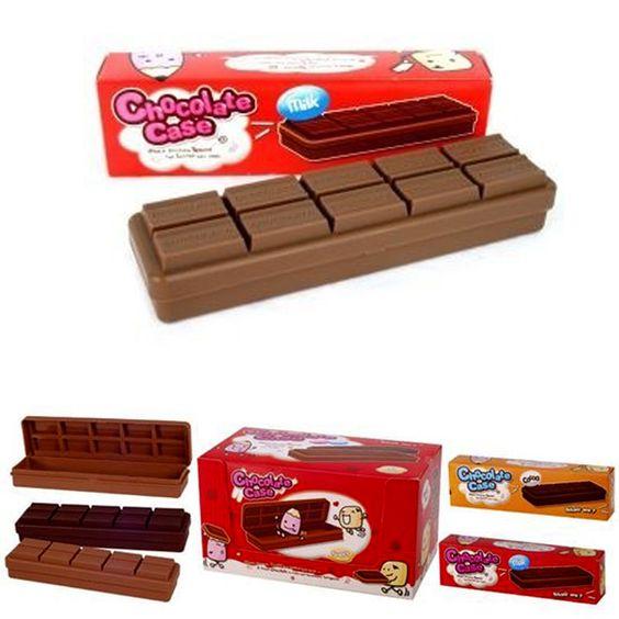 Estojo de Chocolate  Ao Leite  Meio Amargo
