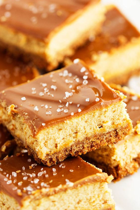Dulce de Leche Cheesecake Bars | Recipe | To be, Glaze and Cheesecake