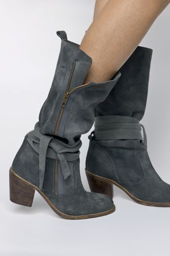 gray suede boots...mmm