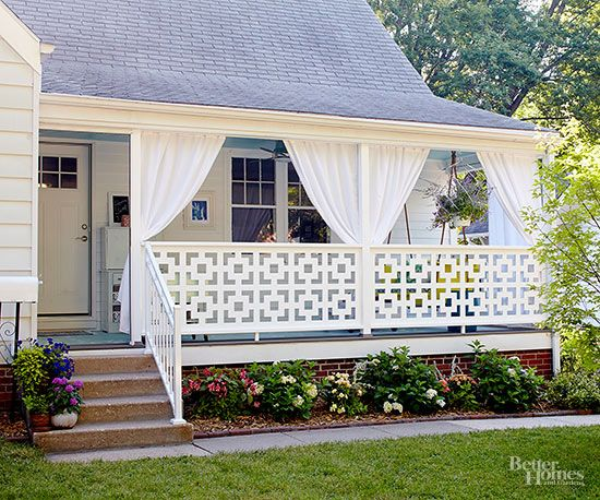 Creative front porches and small homes exteriors on pinterest for Redesign the outside of your home