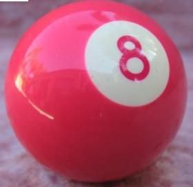 Pink 8 ball.  If I'm gonna get behind it, it might as well be pink!