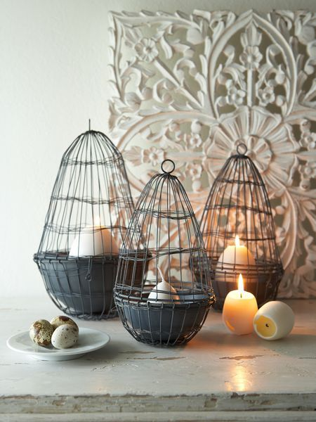 Wire Easter Eggs & Candles