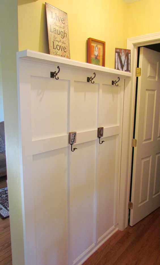 Diy Coat Rack Wainscoting And Board And Batten On Pinterest