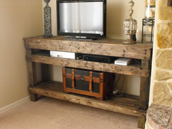 Rustic TV Console - http://www.etsy.com/listing/150914626/tv-console-table?ref=sr_gallery_40_search_query=rustic+tv+console_view_type=gallery_ship_to=US_ref=auto3_order=price_asc_page=0_search_type=all