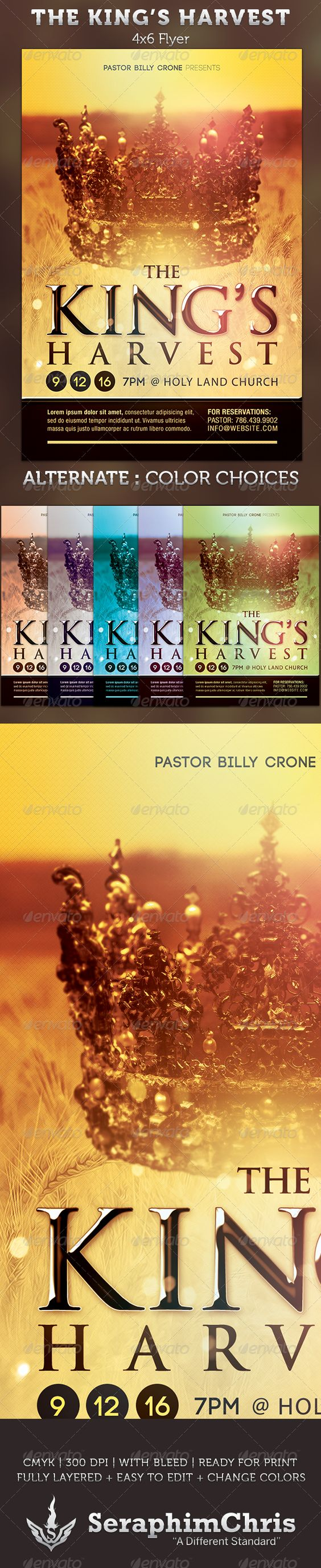 the king s harvest church flyer template fonts flyer template the king s harvest church flyer template 6 00