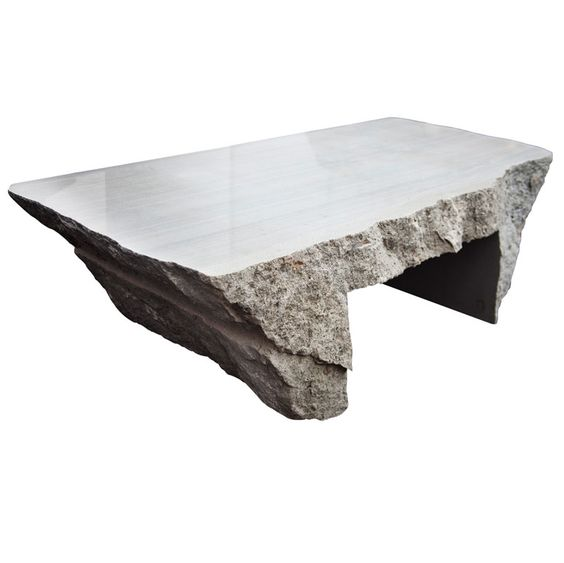 Jaw-dropping Delaware bluestone coffee table by Max Lamb. See how it was made: maxlamb.org