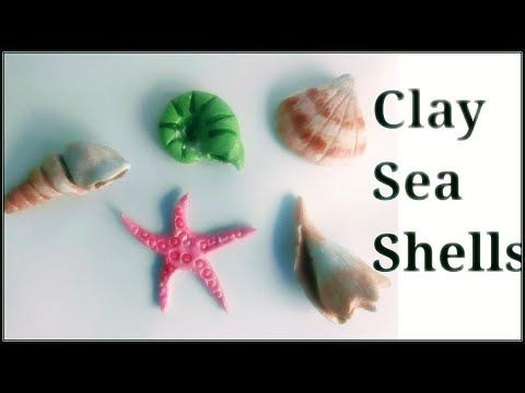 Clay Sea Shells Using Air Dry Clay Shilpkar Clay Clay Craft How To Make Sea Shells Without Mould Youtube Diy Air Dry Clay Air Dry Clay Dry Clay