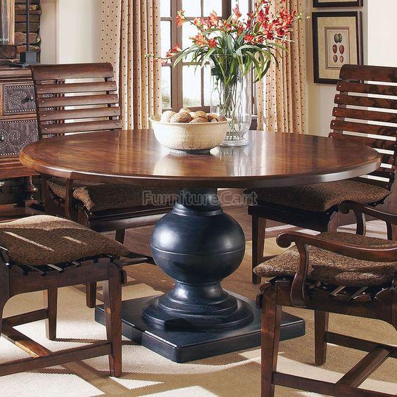 Whiskey Oak Round Dining Table ART Furniture Furniture Cart-60\