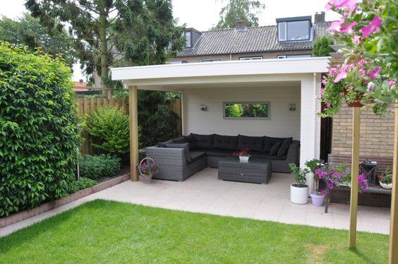 Houten veranda houten overkapping terras overkapping houten afdak patio pinterest - Terras houten pergola ...