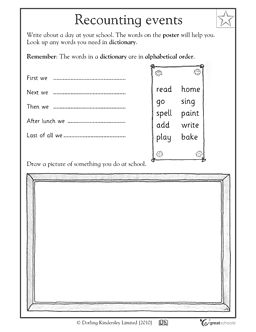 Worksheets Language Arts Worksheets For 1st Grade worksheets first grade and on pinterest a series of events activities greatschools